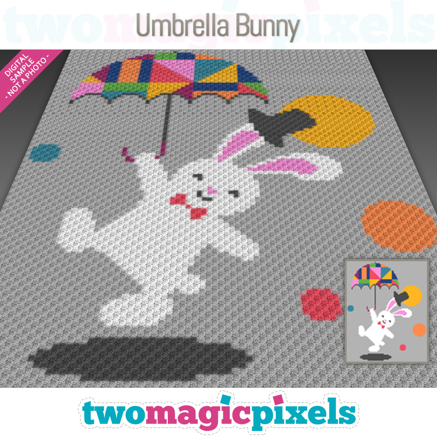 Umbrella Bunny by Two Magic Pixels