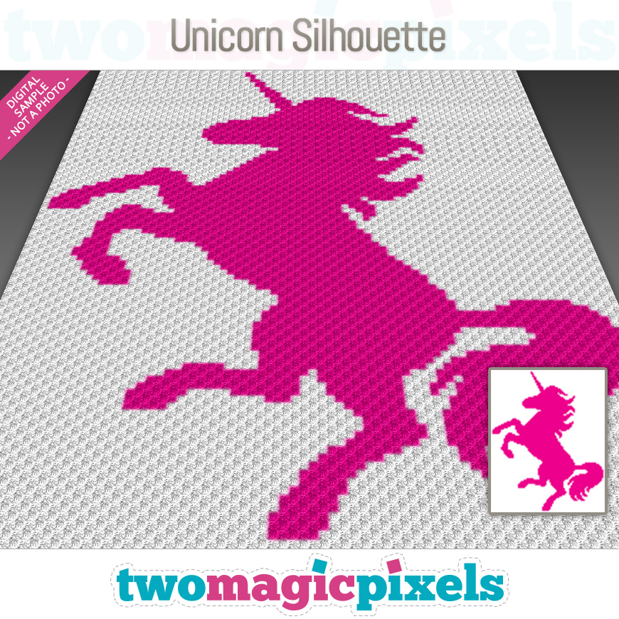 Unicorn Silhouette by Two Magic Pixels