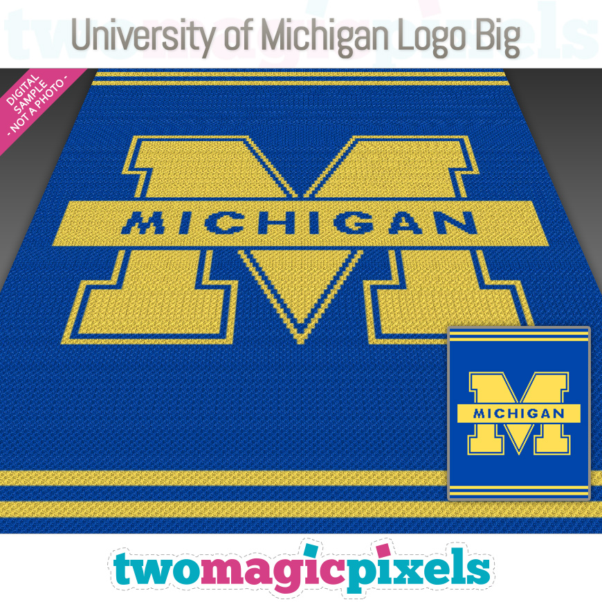 University of Michigan Logo Big by Two Magic Pixels