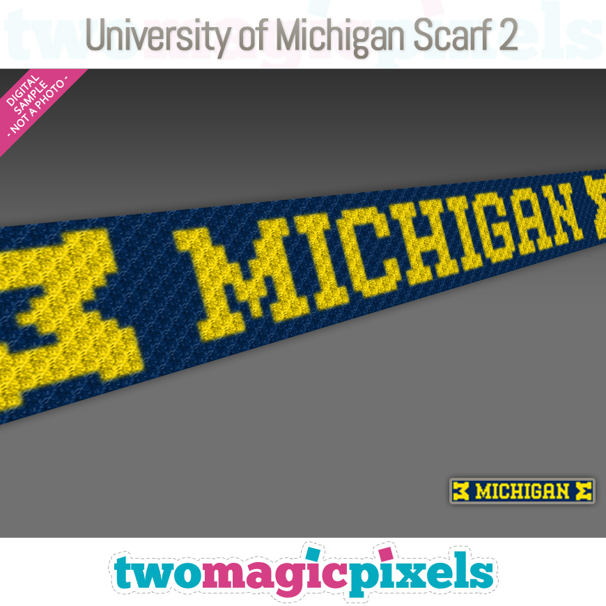 University of Michigan Scarf 2 by Two Magic Pixels