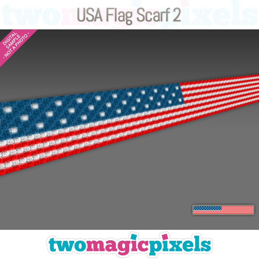 USA Flag Scarf 2 by Two Magic Pixels