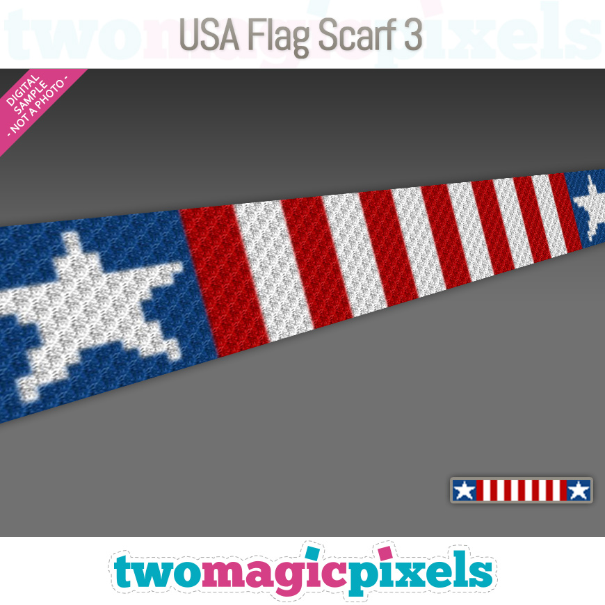 USA Flag Scarf 3 by Two Magic Pixels