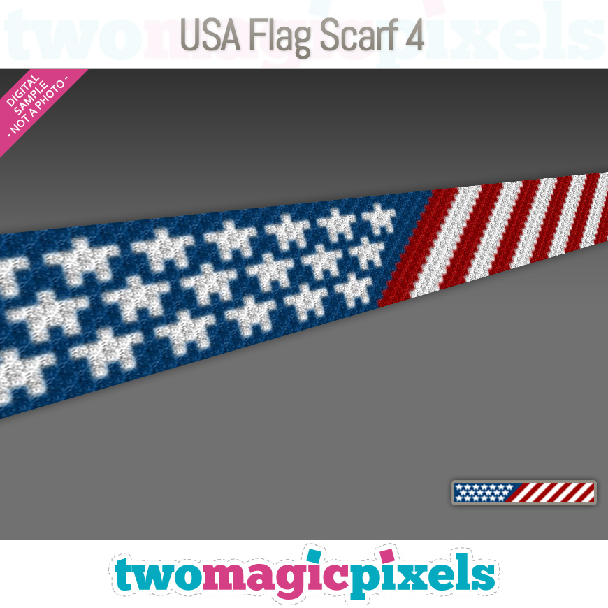 USA Flag Scarf 4 by Two Magic Pixels