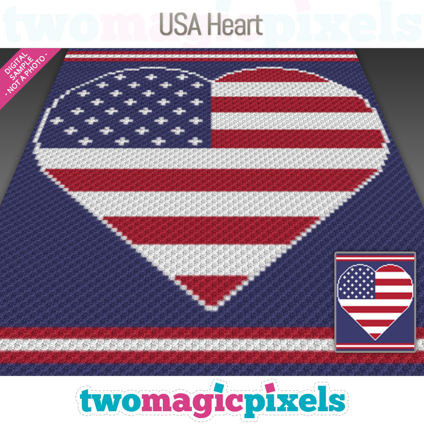 USA Heart by Two Magic Pixels