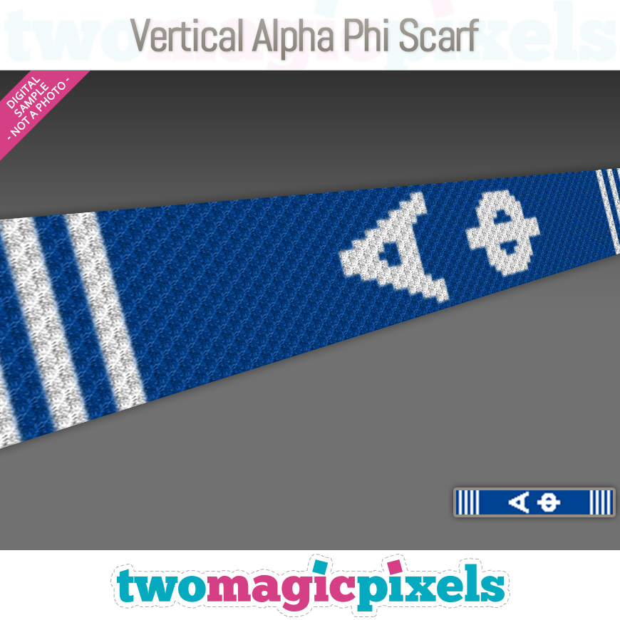 Vertical Alpha Phi Scarf by Two Magic Pixels