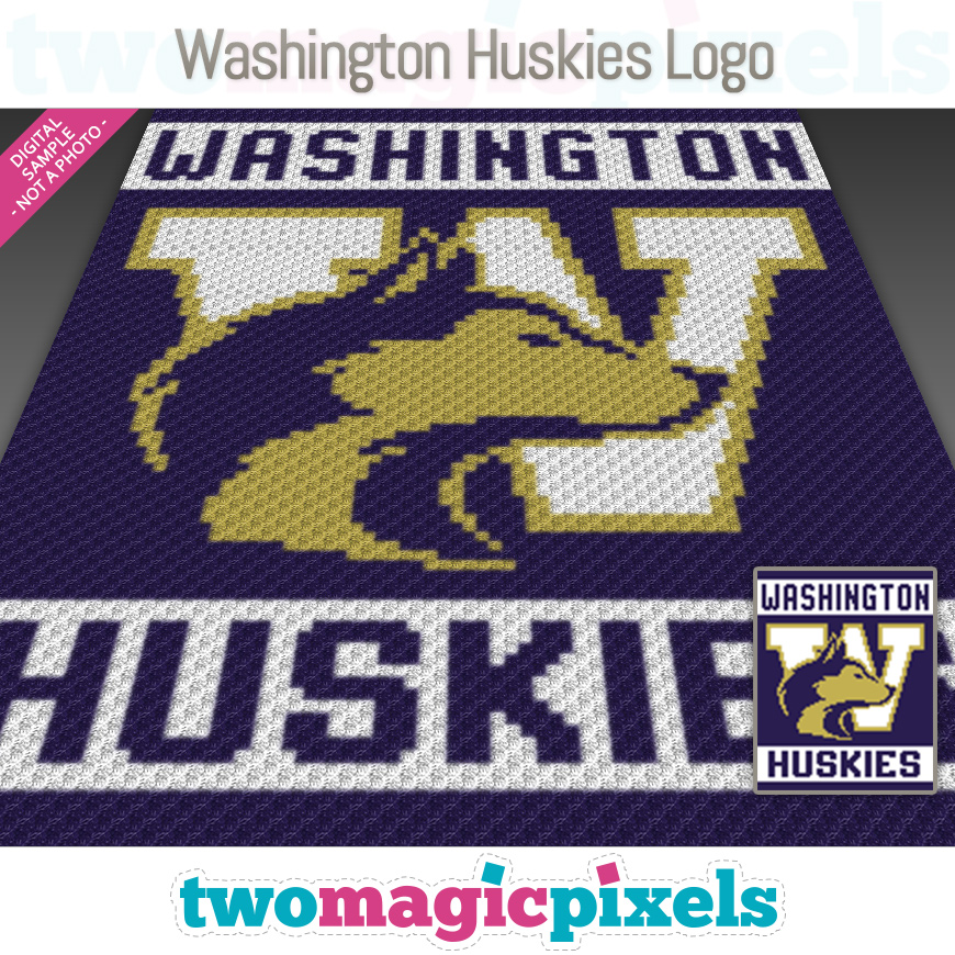 Washington Huskies Logo by Two Magic Pixels