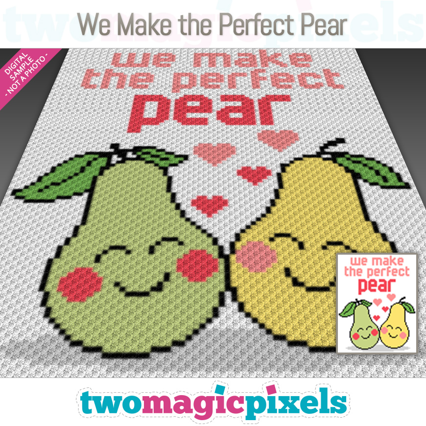 We Make the Perfect Pear by Two Magic Pixels