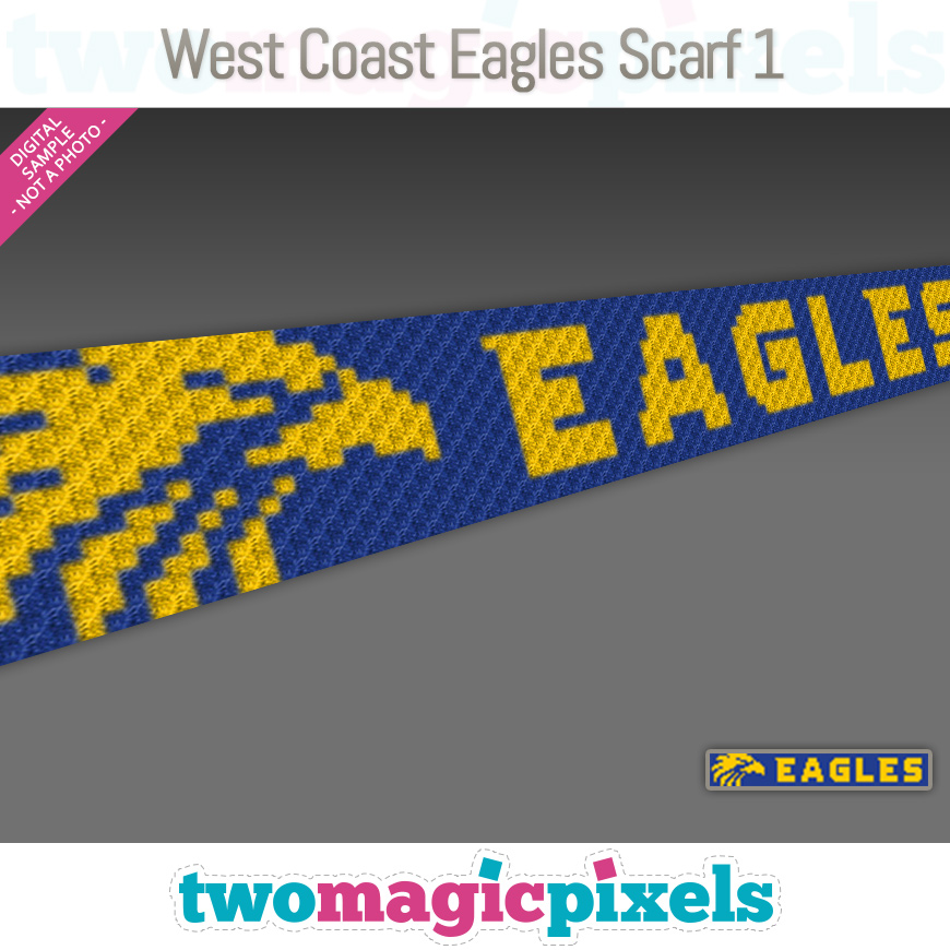 West Coast Eagles Scarf 1 by Two Magic Pixels