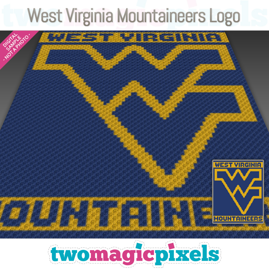 West Virginia Mountaineers Logo by Two Magic Pixels