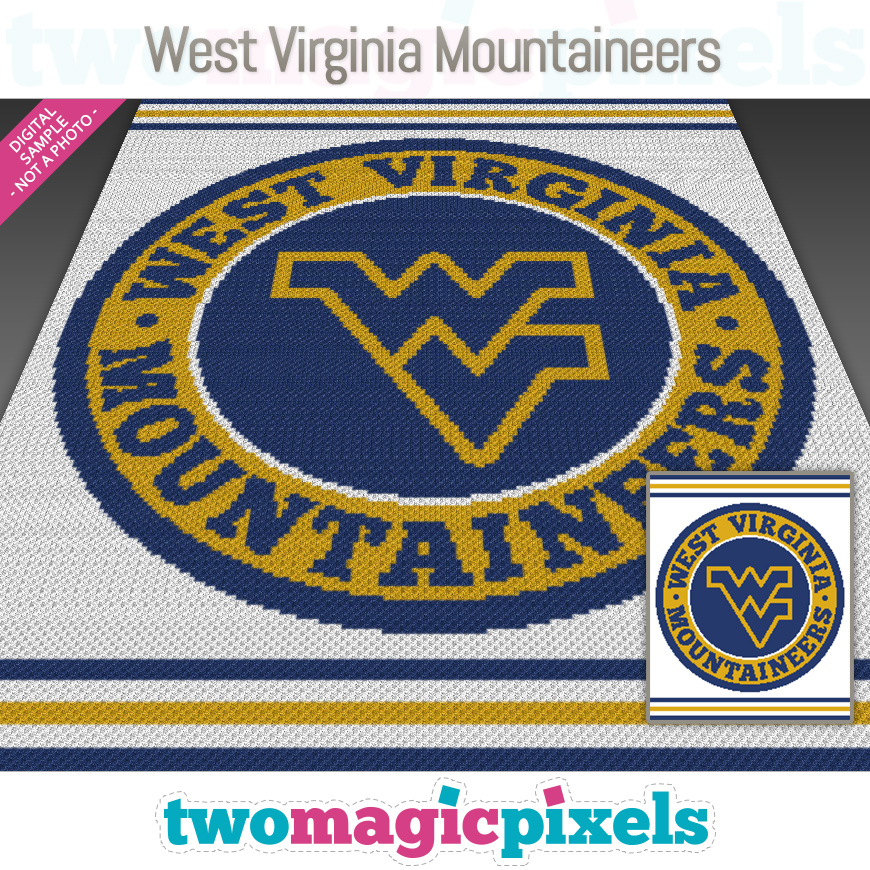 West Virginia Mountaineers by Two Magic Pixels
