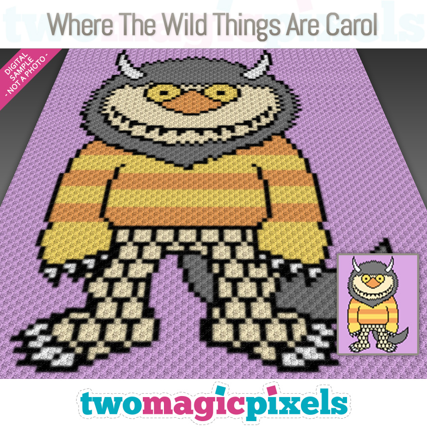 Where The Wild Things Are Carol by Two Magic Pixels