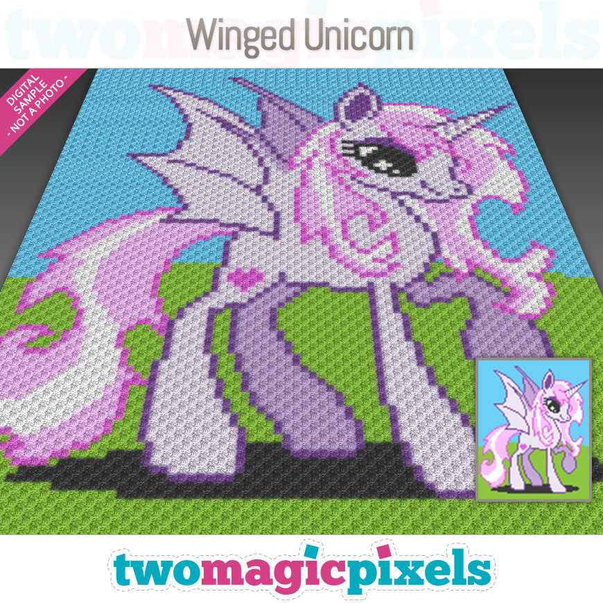 Winged Unicorn by Two Magic Pixels