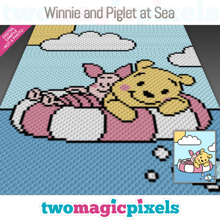 Winnie and Piglet at Sea by Two Magic Pixels