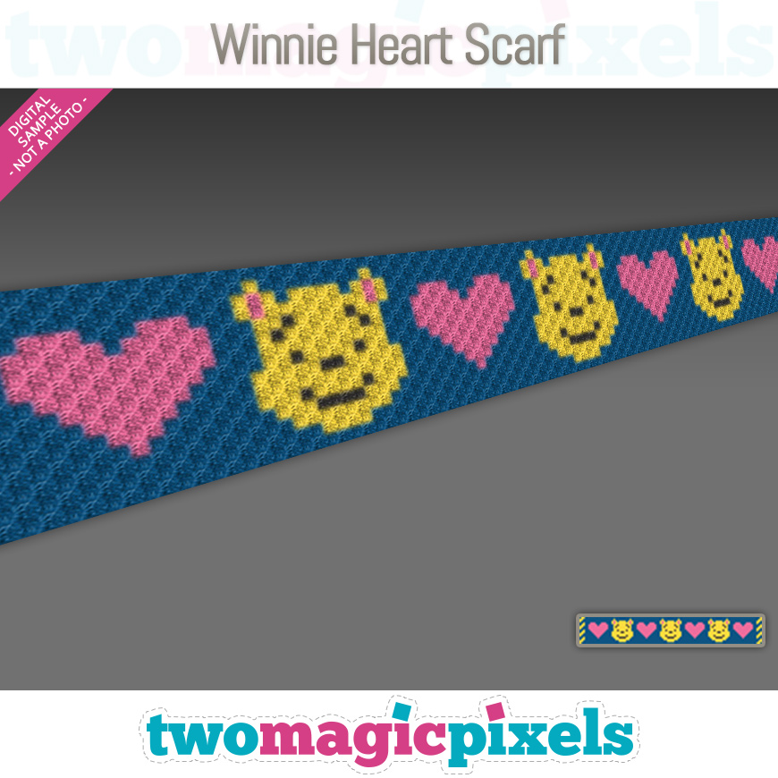 Winnie Heart Scarf by Two Magic Pixels