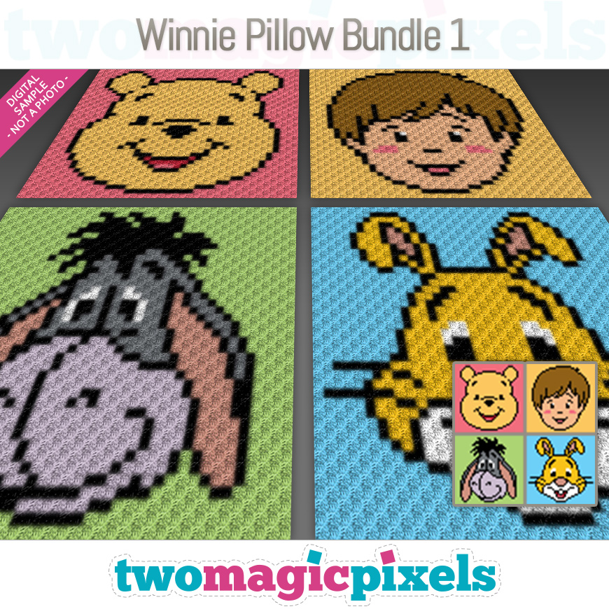 Winnie Pillow Bundle 1 by Two Magic Pixels