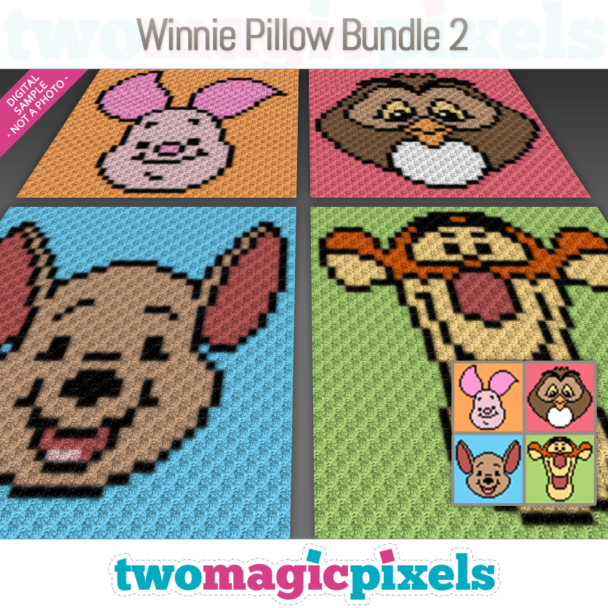 Winnie Pillow Bundle 2 by Two Magic Pixels