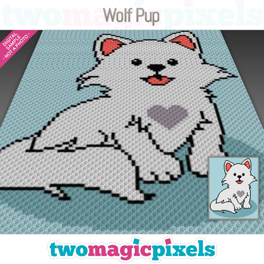 Wolf Pup by Two Magic Pixels