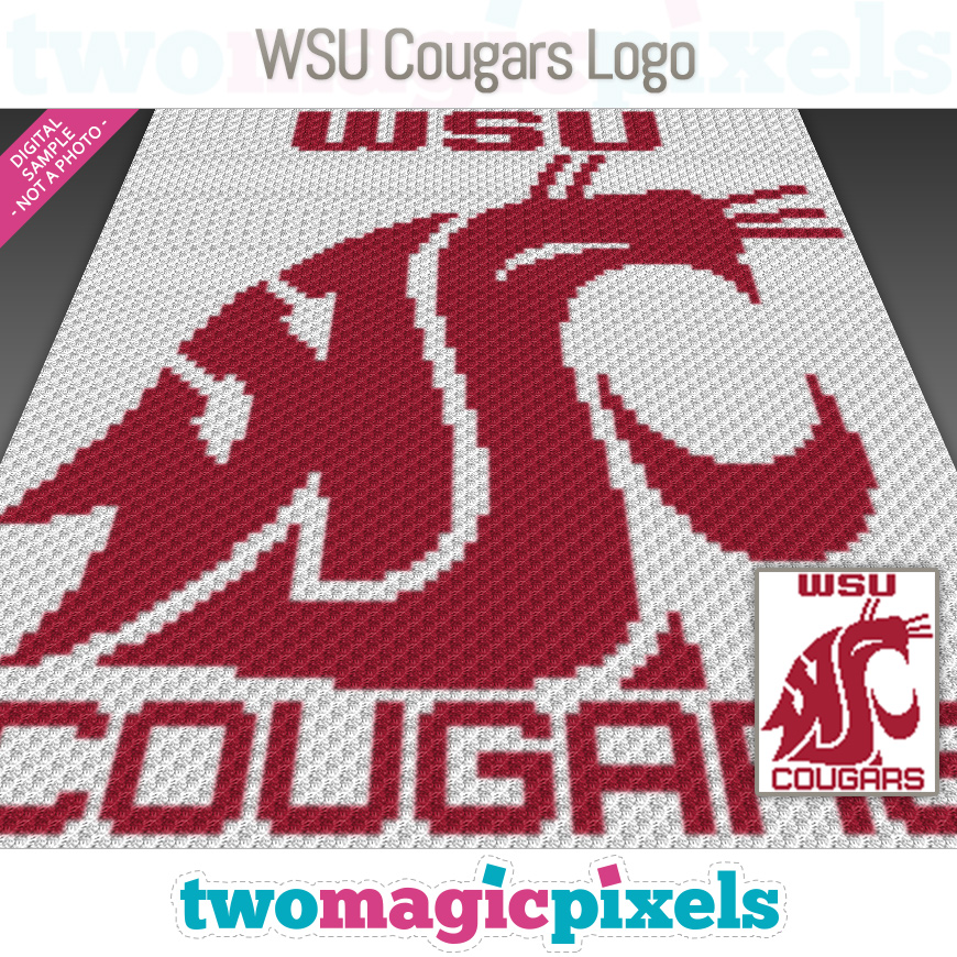 WSU Cougars Logo by Two Magic Pixels