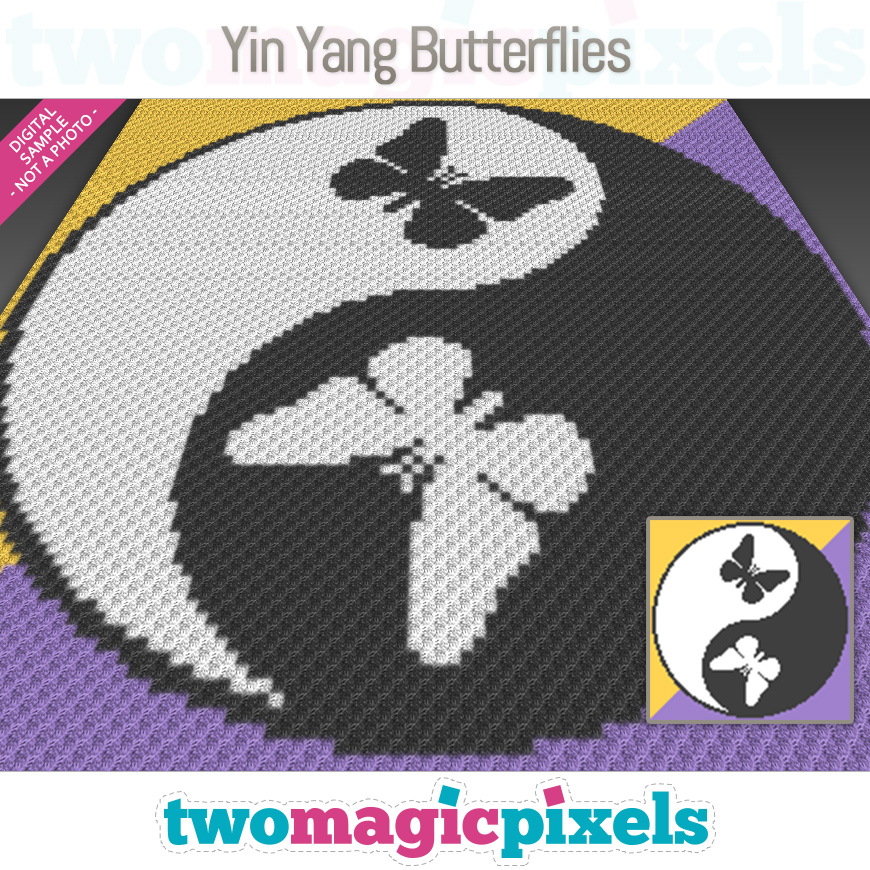 Yin Yang Butterflies by Two Magic Pixels