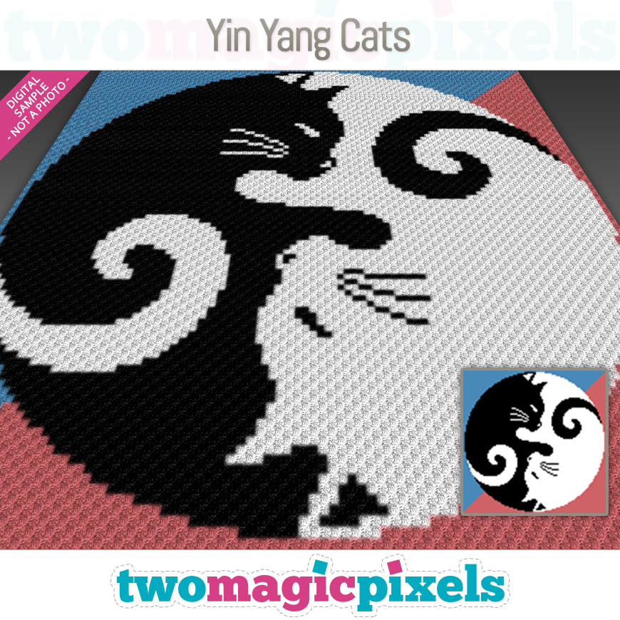 Yin Yang Cats by Two Magic Pixels