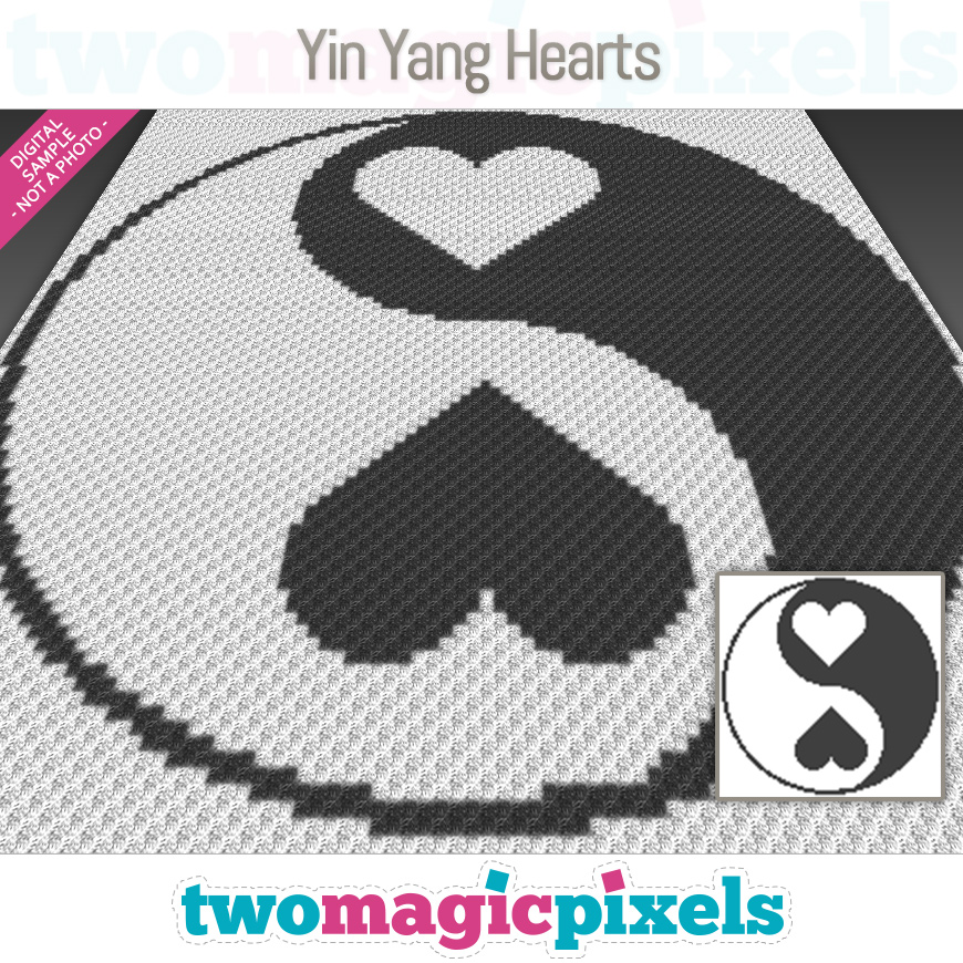 Yin Yang Hearts by Two Magic Pixels