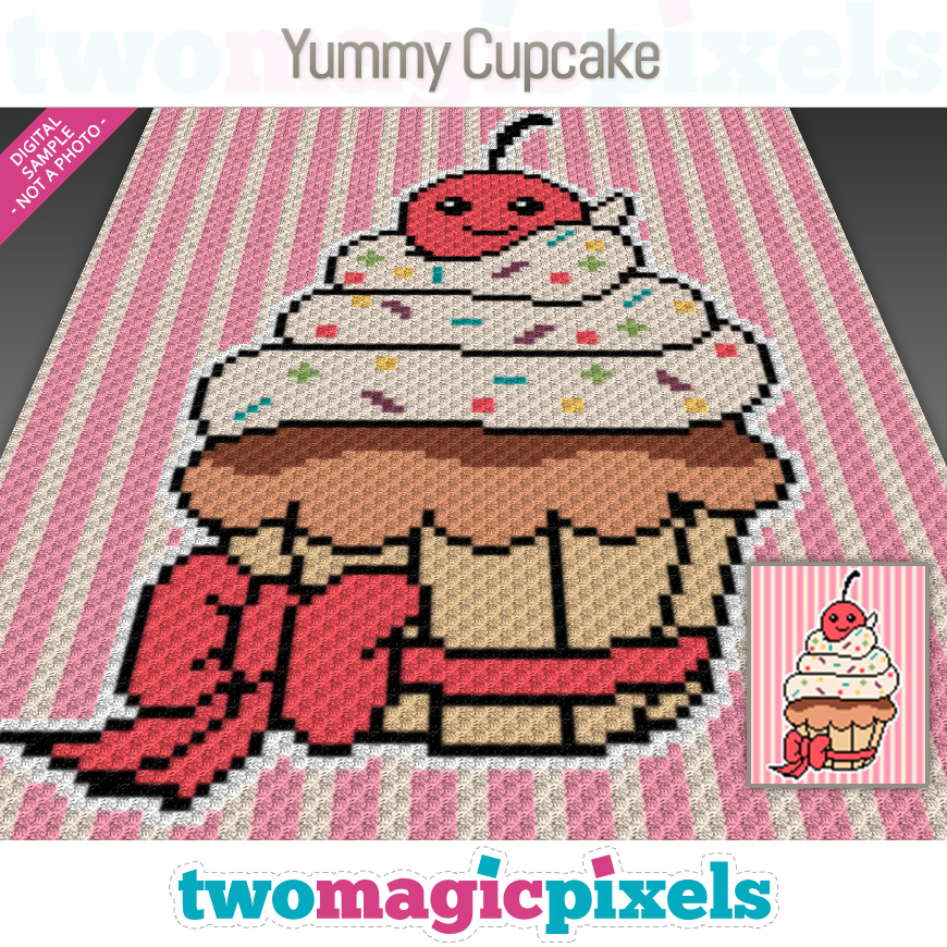 Yummy Cupcake by Two Magic Pixels
