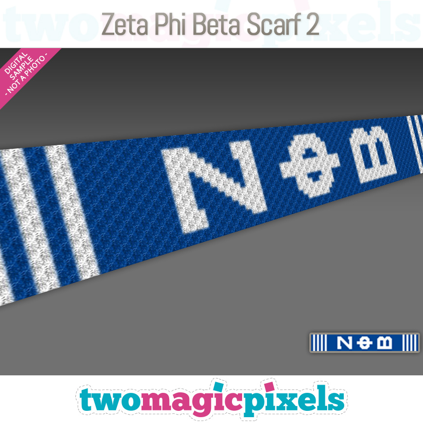 Zeta Phi Beta Scarf 2 by Two Magic Pixels